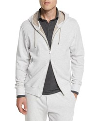 Brunello Cucinelli Zip Up Spa Hoodie Fog