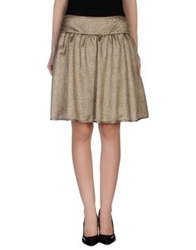 Michelle Windheuser Knee Length Skirts Khaki