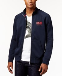 Armani Exchange Men's Eagle Logo Full Zip Sweatshirt Navy