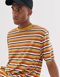 Brooklyn Supply Co. Co Relaxed Fit T Shirt In Multi Colour Stripe