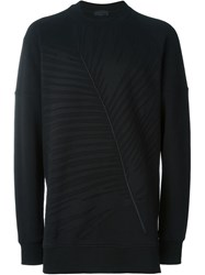 Diesel Black Gold Textured Leaf Sweatshirt