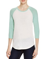 Alternative Apparel Alternative Eco Jersey Baseball Tee Ivory Green