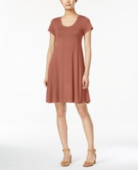 Styleandco. Style Co Petite Short Sleeve A Line Dress Created For Macy's Rose Sand