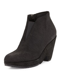 Eileen Fisher Space Corduroy Suede Ankle Bootie Black