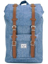 Herschel Supply Co. Buckle Strap Backpack Unisex Polyester One Size Blue