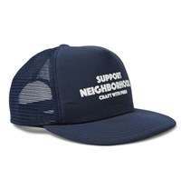 Neighborhood Printed Jersey And Mesh Trucker Cap Navy
