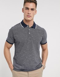 Ben Sherman Stripe Jersey Polo Shirt Black