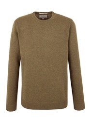 Racing Green Shelley Lambswool Blend Crew Neck Knit Green