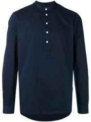 Hope Mandarin Collar Shirt Men Cotton 50 Blue