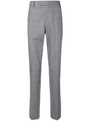 Ck Calvin Klein Check Suit Trousers Grey
