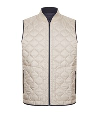 Zegna Reversible Quilted Gilet Navy