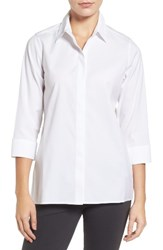 Foxcroft Women's Gigi Stretch Cotton Tunic White