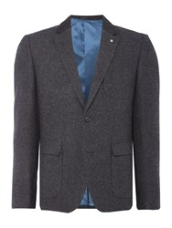 Peter Werth Men's Route Wool Mix Blazer Charcoal