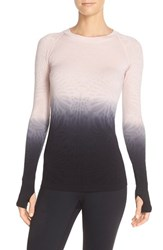 Women's Climawear 'See The Light' Ombre Long Sleeve Tee Taupe Black