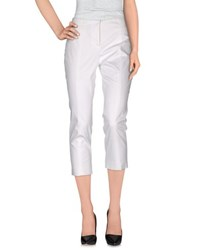 Blumarine Trousers 3 4 Length Trousers Women White