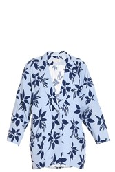 Paul And Joe Flower Jacket Blue