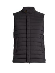 Herno Stand Collar Quilted Gilet Navy