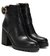 Charlotte Olympia Leather Ankle Boots Black