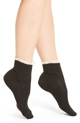 Peony And Moss Women's Lace Trim Ankle Socks