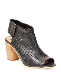 Steve Madden Suzy Perforated Leather Booties Black