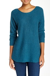 14Th And Union Cashmere Shirttail Sweater Petite Blue