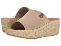 Rockport Lanea Slide Taupe Faux Suede Women's Shoes