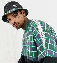 Puma Check Bucket Hat In Green Exclusive At Asos