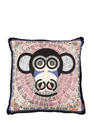 Missoni Monkey Horoscope Cotton Pillow Multicolor