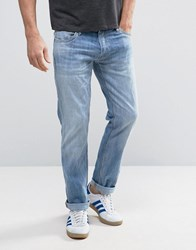 Jack And Jones Intelligence Jeans In Slim Fit Washed Denim Light Blue 987
