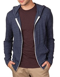 Alternative Apparel Eco Heather Zip Hoodie Navy