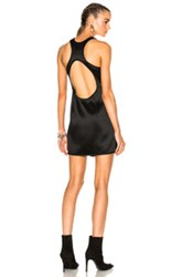 Alexander Wang Asymmetric Swim Mini Wrap Dress In Black
