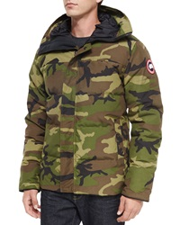 Canada Goose Macmillan Hooded Parka Coat Camo Green