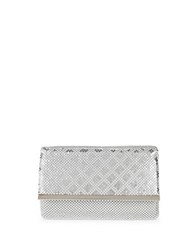 La Regale Small Mesh Clutch Silver