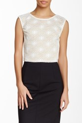 Blvd Lace Sleeveless Blouse White