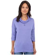 Bench Drawrin Short Sleeve Top Deep Periwinkle Women's Short Sleeve Pullover Pewter