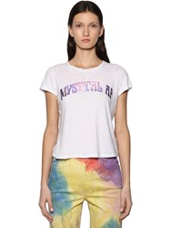 Mother Mystical Printed Cotton T Shirt White