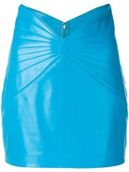 Attico Textured Mini Skirt Blue
