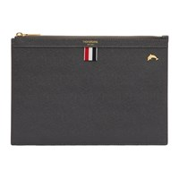 Thom Browne Grey Small Dolphin Icon Tablet Holder