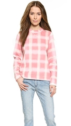 Marc By Marc Jacobs Blurred Gingham Sweater Piggy Pink Multi