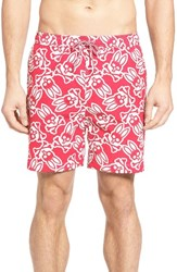 Psycho Bunny Men's Pyscho Graphic Swim Trunks