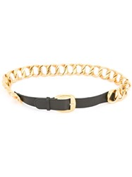 Chanel Vintage Curb Chain Belt Black