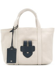 Tila March Simple Small Tote Bag Nude And Neutrals