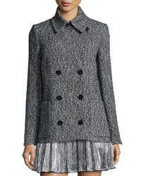 Zadig And Voltaire Miles Deluxe Double Breasted Coat Gris