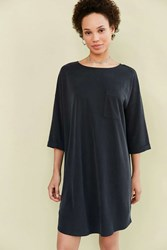 Silence And Noise Dolman Mini T Shirt Dress Washed Black