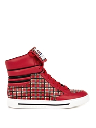 Marc By Marc Jacobs Cute Kicks Leather High Top Trainers