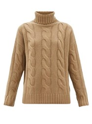 Nili Lotan Brynne Cable Knit Cashmere Sweater Beige