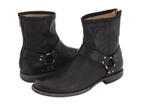 Frye Phillip Harness Black Vintage Leather Men's Pull On Boots