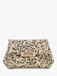 Dune Baileee Leopard Fold Over Cross Body Bag Multi
