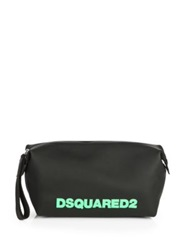 Dsquared Rubber Toiletry Bag Black Bright Blue