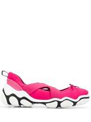 Red Valentino V Cross Over Strap Sneakers Pink